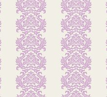 Royal Damask, Ornaments, Swirls - Purple White by sitnica