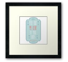 You have my heart in your hands Framed Print