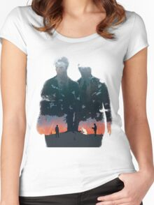 True Detective - The Long Bright Dark Women's Fitted Scoop T-Shirt
