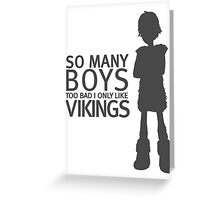 HTTYD - Viking (Black Print) Greeting Card