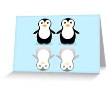 PENGUIN PAIR ON ICE Greeting Card