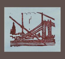 manhattan bridge and empire state Baby Tee
