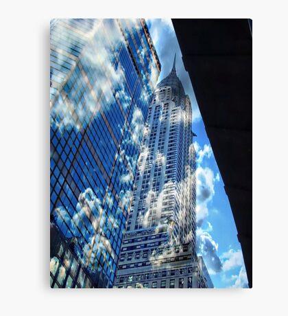 chrysler clouds Canvas Print