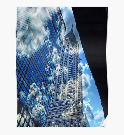 chrysler clouds Poster