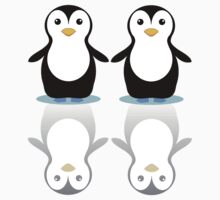 PENGUIN PAIR ON ICE One Piece - Short Sleeve