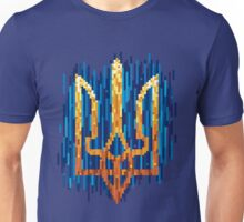 Ukrainian Tryzub with tapestry effect Unisex T-Shirt