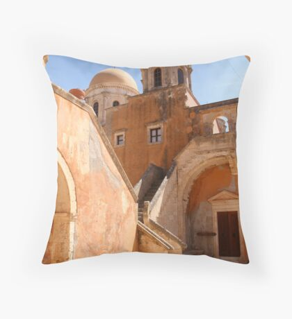 Escher's Monastry Throw Pillow
