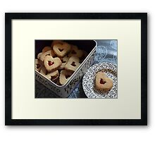 day 34: heart cookies Framed Print