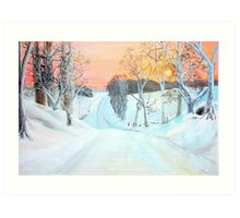 Snowscene near Howgate  (2) Art Print