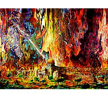 fire in the holy land  Photographic Print
