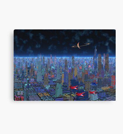 Night Patrol - Titan City Canvas Print