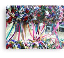 Dried Flower Wreaths  Metal Print