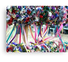 Dried Flower Wreaths  Canvas Print