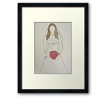 Wedding Dress No 7 Framed Print