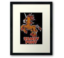 Zomby Pony Framed Print