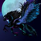 Black Pegasus and Blue Moon by Lotacats
