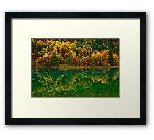 Autumn in Jiuzhaigou Framed Print