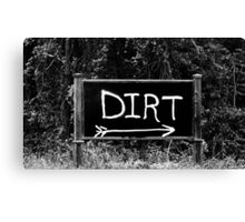 Rural Area Sign Canvas Print