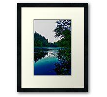 Holt Pond Framed Print