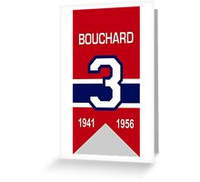 """Emile """"Butch"""" Bouchard - retired jersey #3 Greeting Card"""