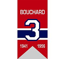 "Emile ""Butch"" Bouchard - retired jersey #3 Photographic Print"