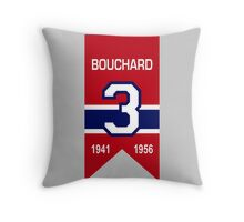 """Emile """"Butch"""" Bouchard - retired jersey #3 Throw Pillow"""