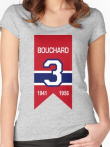 """Emile """"Butch"""" Bouchard - retired jersey #3 Women's Fitted Scoop T-Shirt"""