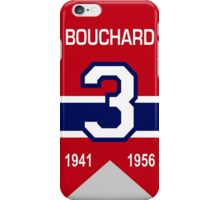 "Emile ""Butch"" Bouchard - retired jersey #3 iPhone Case/Skin"