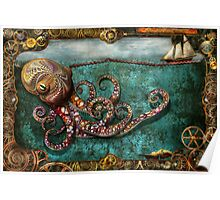 Steampunk - The tale of the Kraken Poster