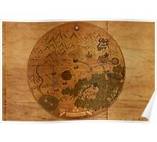 Hyrule Map: Antique style map of Hyrule (OoT) Poster