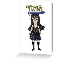 Tina Warrior Princess Greeting Card