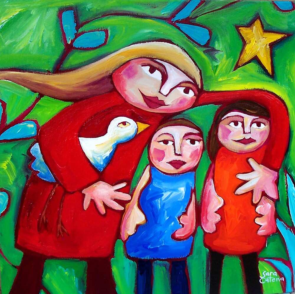 GOING  HOME  FOR  CHRISTMAS by ART PRINTS ONLINE         by artist SARA  CATENA