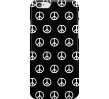 White Peace Sign Pattern iPhone Case/Skin