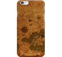 Hyrule Map: Antique style map of Hyrule (OoT) iPhone Case/Skin