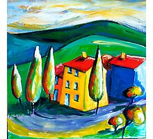 TUSCANY  FARM - ITALY Photographic Print