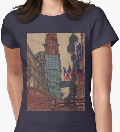 grand central Womens Fitted T-Shirt