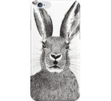 Hare pointillism illustration  iPhone Case/Skin