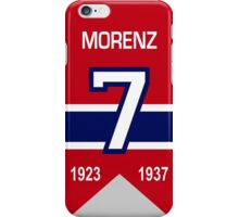 Howie Morenz - retired jersey #7 iPhone Case/Skin