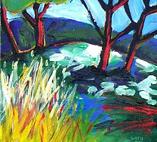 SUN  ON  THE  HILL by ART PRINTS ONLINE         by artist SARA  CATENA