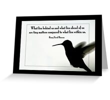 Tiny Matters Greeting Card