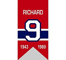 Maurice Richard - retired jersey #9 Photographic Print