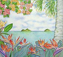 Mokulua Islands off Lanikai, Hawai'i by joeyartist