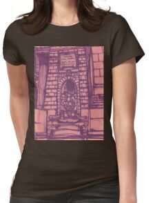 nypl facade Womens Fitted T-Shirt