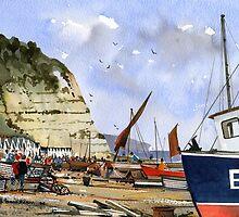 Beer Beach, Devon - Jurassic Coast by Bob Bradshaw