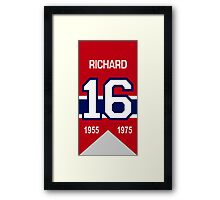Henri Richard - retired jersey #16 Framed Print