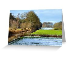Just a little snow left on 1st February Greeting Card