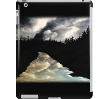 Reflections on an empty road iPad Case/Skin