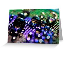 Rainbow Bokeh Bubbles Greeting Card
