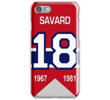Serge Savard - retired jersey #18 iPhone Case/Skin