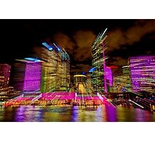 Warp Speed City Photographic Print